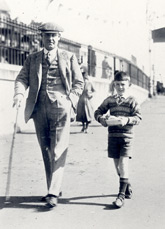 Eb and Chris (the settlor) on the seafront, 1930